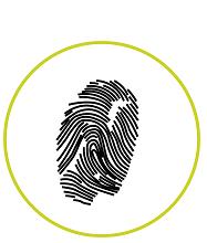pictograma huella dactilar