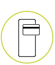 pictograma tarjeta y movil