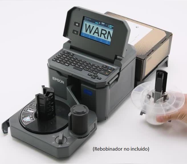 caja etiquetas Labelworks con impresora