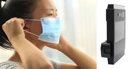Control acceso facial con mascarilla